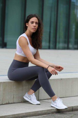Stefanie Diem im Fitness Outfit