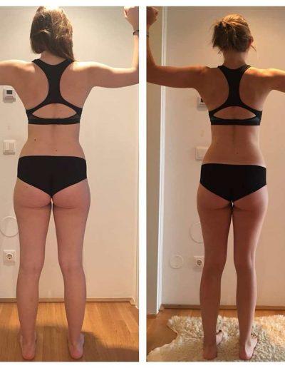 Fitnesstraining Vorher Nacher Hinten